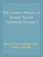 The Literary Remains of Samuel Taylor Coleridge, Volume 3
