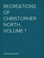 Recreations of Christopher North, Volume 1