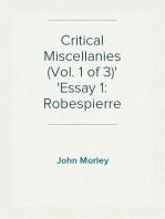 Critical Miscellanies (Vol. 1 of 3) Essay 1