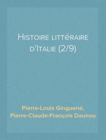 Histoire littéraire d'Italie (2/9)