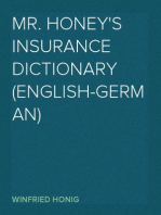 Mr. Honey's Insurance Dictionary (English-German)