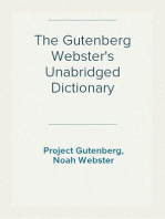 The Gutenberg Webster's Unabridged Dictionary