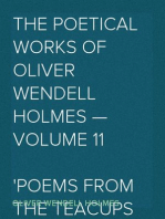 The Poetical Works of Oliver Wendell Holmes — Volume 11