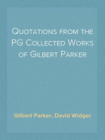 Quotations from the PG Collected Works of Gilbert Parker