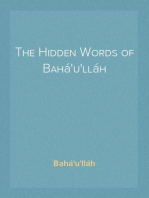 The Hidden Words of Bahá'u'lláh