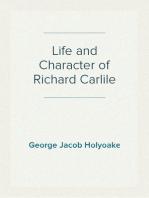 Life and Character of Richard Carlile