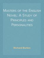 Masters of the English Novel