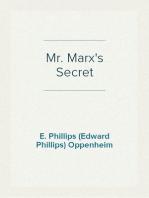 Mr. Marx's Secret