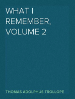 What I Remember, Volume 2