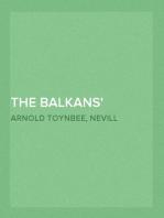 The Balkans A History of Bulgaria—Serbia—Greece—Rumania—Turkey
