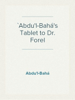 `Abdu'l-Bahá's Tablet to Dr. Forel
