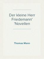 Der kleine Herr Friedemann Novellen