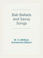 Bab Ballads and Savoy Songs