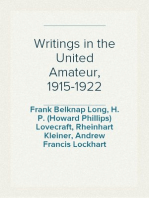 Writings in the United Amateur, 1915-1922