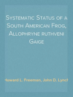 Systematic Status of a South American Frog, Allophryne ruthveni Gaige