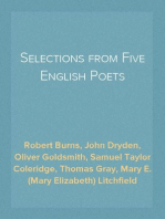 Selections from Five English Poets