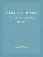 A Matter of Honor A Terran Empire novel