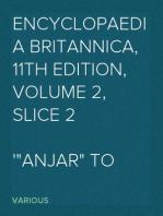 """Encyclopaedia Britannica, 11th Edition, Volume 2, Slice 2 """"Anjar"""" to """"Apollo"""""""