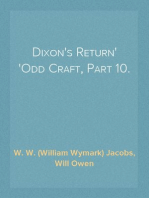 Dixon's Return Odd Craft, Part 10.
