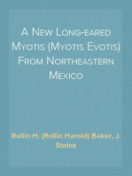 A New Long-eared Myotis (Myotis Evotis) From Northeastern Mexico