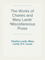 The Works of Charles and Mary Lamb Miscellaneous Prose
