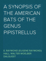 A Synopsis of the American Bats of the Genus Pipistrellus