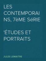 Les Contemporains, 7ème Série Études et Portraits Littéraires