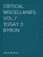 Critical Miscellanies, Vol. I Essay 3