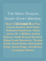 The Great English Short-Story Writers, Volume 1