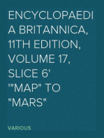 "Encyclopaedia Britannica, 11th Edition, Volume 17, Slice 6 ""Map"" to ""Mars"""