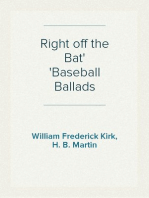 Right off the Bat Baseball Ballads