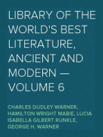 Library of the World's Best Literature, Ancient and Modern — Volume 6