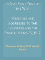 In Our First Year of the War