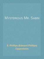 Mysterious Mr. Sabin