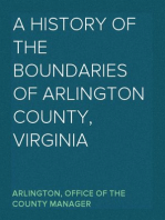 A History of the Boundaries of Arlington County, Virginia