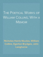 The Poetical Works of William Collins; With a Memoir