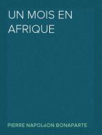 Un mois en Afrique