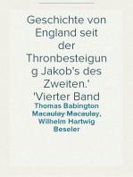 Geschichte von England seit der Thronbesteigung Jakob's des Zweiten. Vierter Band