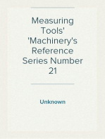 Measuring Tools Machinery's Reference Series Number 21