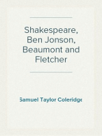 Shakespeare, Ben Jonson, Beaumont and Fletcher