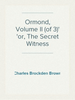 Ormond, Volume II (of 3) or, The Secret Witness