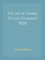 The Life of Samuel Taylor Coleridge 1838