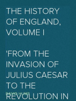 The History of England, Volume I