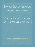 Bay of Seven Islands, and other poems