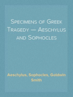 Specimens of Greek Tragedy — Aeschylus and Sophocles