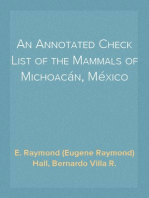 An Annotated Check List of the Mammals of Michoacán, México