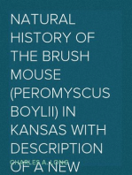 Natural History of the Brush Mouse (Peromyscus boylii) in Kansas With Description of a New Subspecies