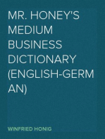 Mr. Honey's Medium Business Dictionary (English-German)