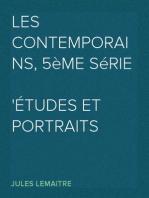Les Contemporains, 5ème Série Études et Portraits Littéraires,