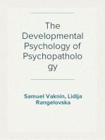 The Developmental Psychology of Psychopathology